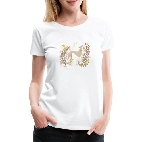 heller Windhund im Herbst - Frauen Premium T-Shirt