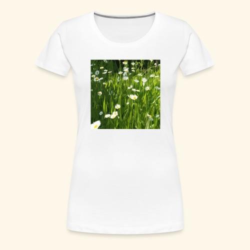 Prato fiorito disegnato - Maglietta Premium da donna