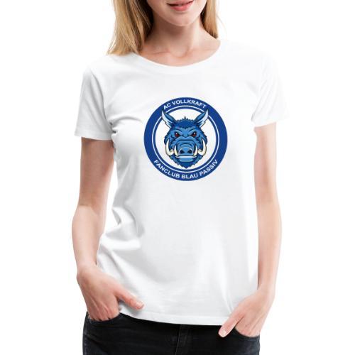 Blau Passiv Fanclub Logo - Frauen Premium T-Shirt