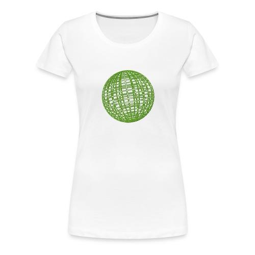 Grüne Kugel - Frauen Premium T-Shirt