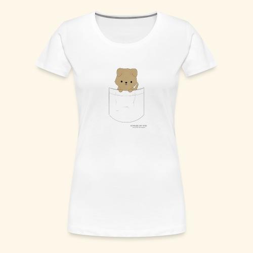 Hund in Tasche - Frauen Premium T-Shirt