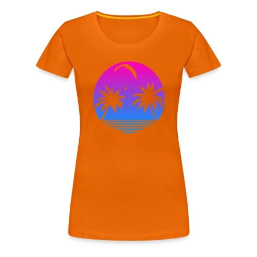 Paragliding Sunset - Frauen Premium T-Shirt