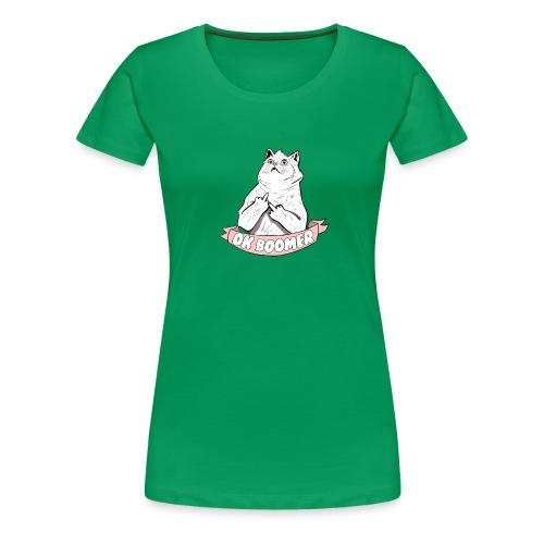 OK Boomer Cat Meme - Women's Premium T-Shirt