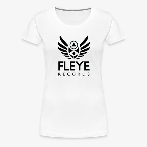 Fleye Records (Black Logo Design) Tøj m.m. - Dame premium T-shirt