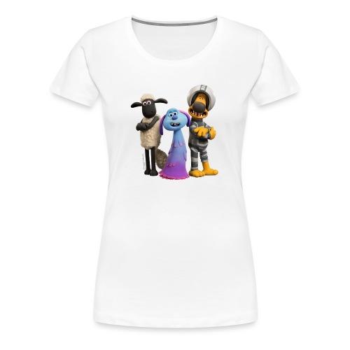 Shaun das Schaf Farmageddon Shaun, Bitzer und Lula - Frauen Premium T-Shirt