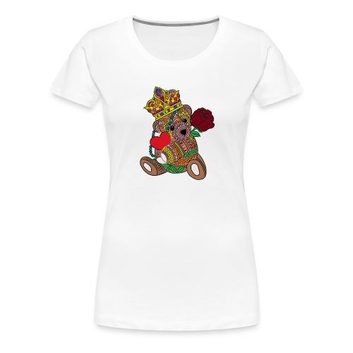 Miś na walentynki - Koszulka damska Premium