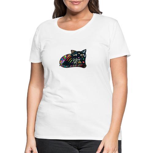 Chat Onirique - T-shirt Premium Femme