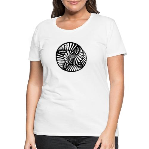 white and black - abstrakt, neutral, handgemalt - Frauen Premium T-Shirt