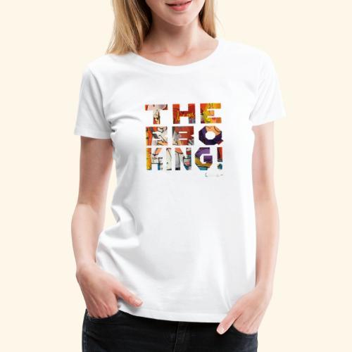 THE BBQ KING T SHIRTS TEKST - Vrouwen Premium T-shirt