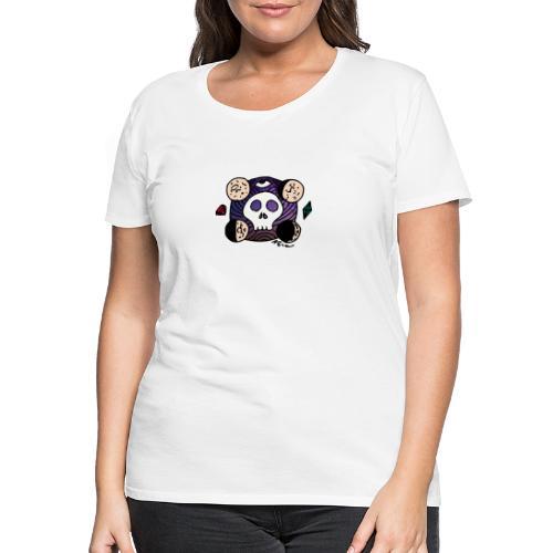 Schädel Mond am Rande des Weltraums - Frauen Premium T-Shirt