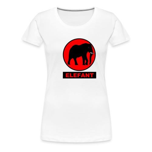 elefant rot - Frauen Premium T-Shirt