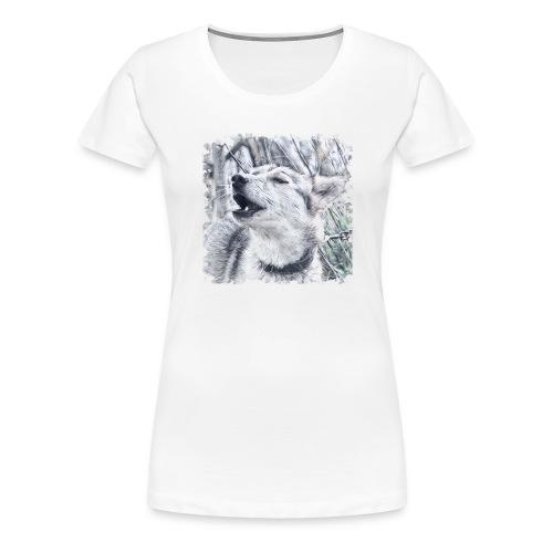 Jaulender Husky - Frauen Premium T-Shirt