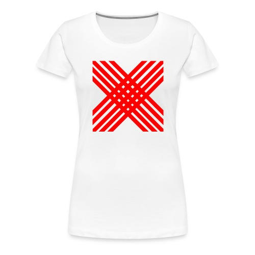 X de rallas - Camiseta premium mujer
