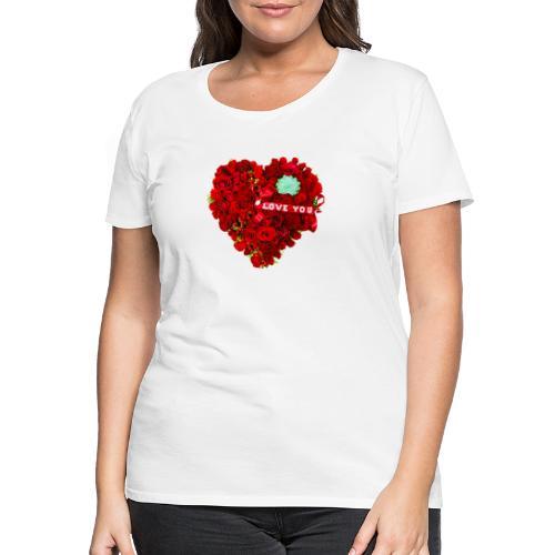 Love is Flower - T-shirt Premium Femme