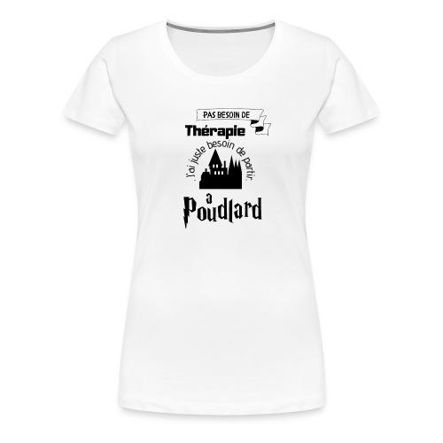 Poudlard - T-shirt Premium Femme
