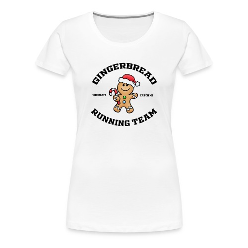 gingerbread running team - Women's Premium T-Shirt