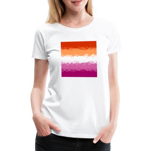Lesben Flagge Mosaik - Frauen Premium T-Shirt