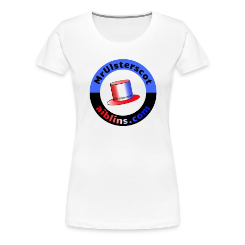 MrUlsterscot, Aiblins.com Logo - Women's Premium T-Shirt