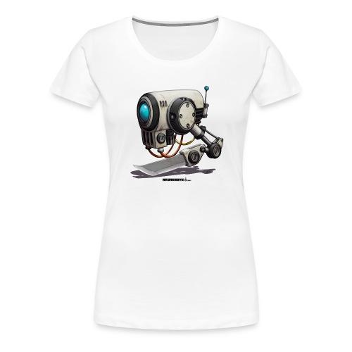 The C.H.O.P. Robot! (Cut Hard Object Precise) - Dame premium T-shirt