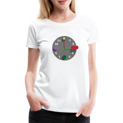 3D o'clock - with models, Vector design - Women's Premium T-Shirt