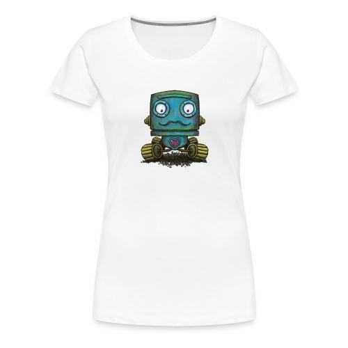Robot op wielen - Women's Premium T-Shirt