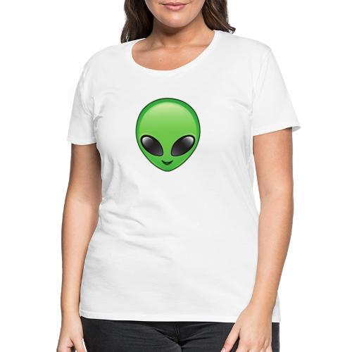 Alien face - Premium-T-shirt dam