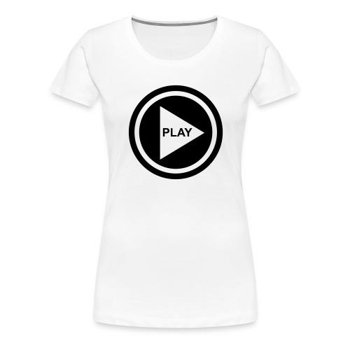 Play Button - Frauen Premium T-Shirt