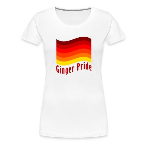 Ginger Pride flag Dark png - Women's Premium T-Shirt