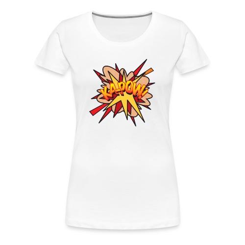 Comic Book Pop Art KA-POW - Women's Premium T-Shirt
