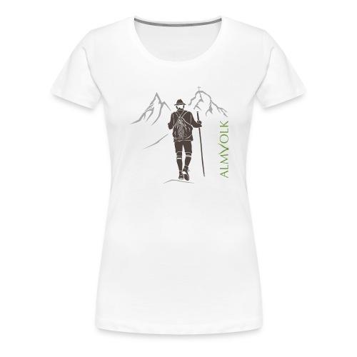 Herren-Shirt ALMVOLK Bergwanderer - Frauen Premium T-Shirt