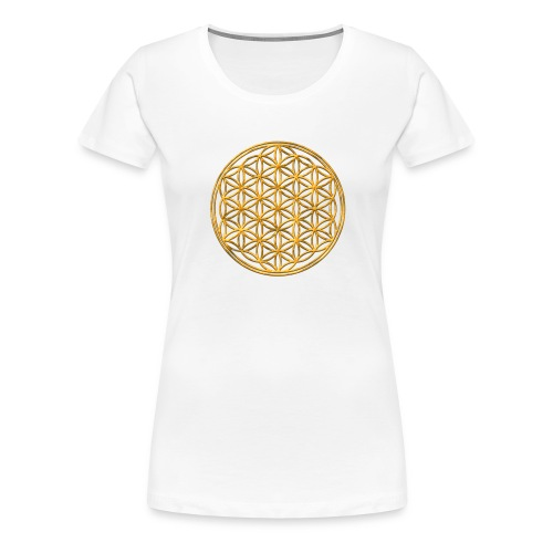 Flower of life GOLD 2 - Vrouwen Premium T-shirt