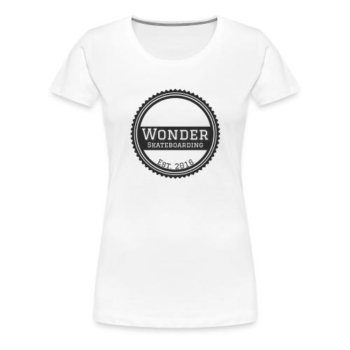 Wonder unisex-shirt round logo - Dame premium T-shirt