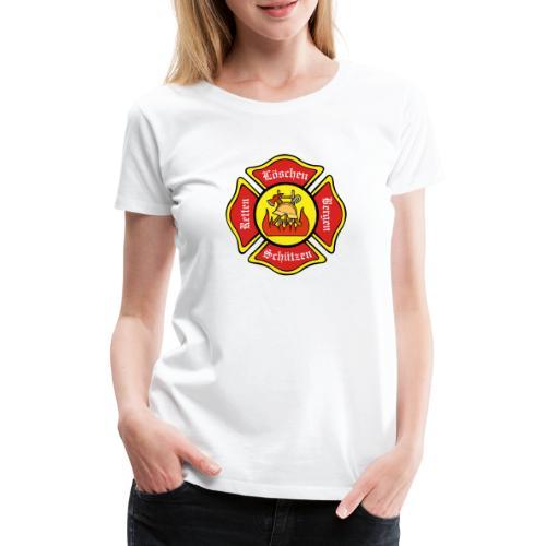 Feuerwehrschild - Frauen Premium T-Shirt