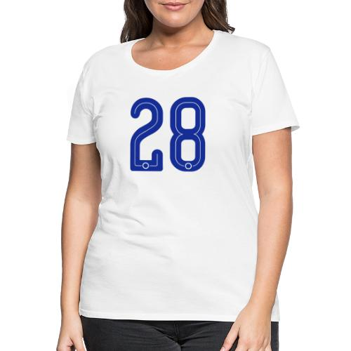 28 Jersey Number by Pelibol ™ - Frauen Premium T-Shirt