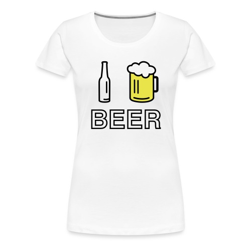 I Love Beer (2-farbig) - Frauen Premium T-Shirt