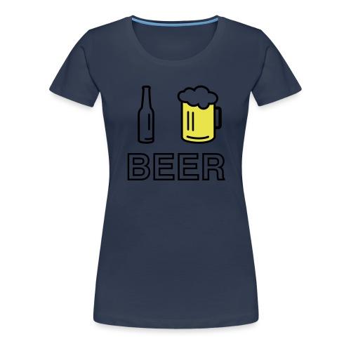 I Love Beer (2-farbig) - Frauen Premium T-Shirt