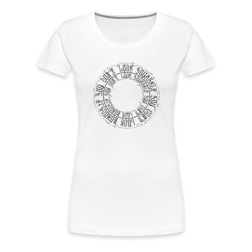 CALLIGRAPHY-CIRCLE - Maglietta Premium da donna