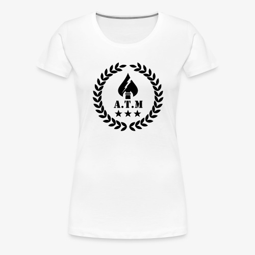 ATM Transparent SW png - Frauen Premium T-Shirt