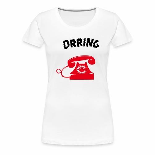 Téléphone vintage qui sonne - T-shirt Premium Femme