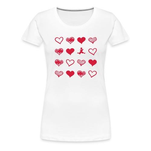 15 Herzen und Tangram - Frauen Premium T-Shirt