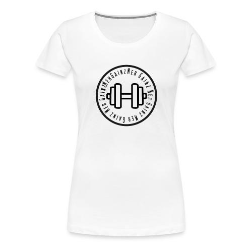 Mergainz Logo Långärmad Tshirt - Premium-T-shirt dam
