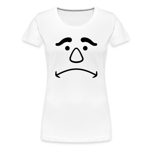 Disappointed Face - Women's Premium T-Shirt