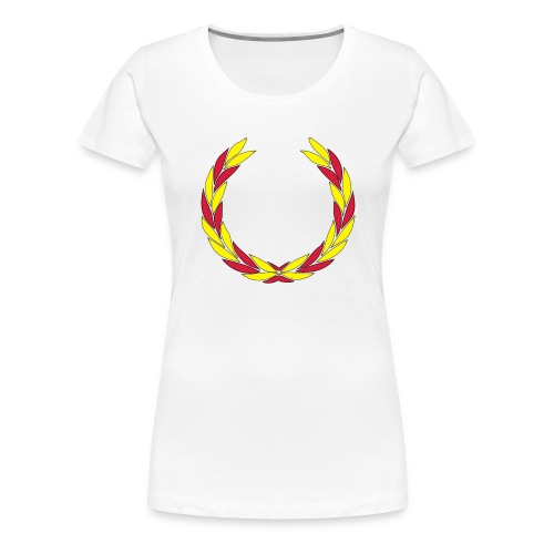 BS--_stor_text-_helvitt-_transp_botten-svg - Premium-T-shirt dam