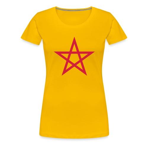Pentagramme Wicca - T-shirt Premium Femme