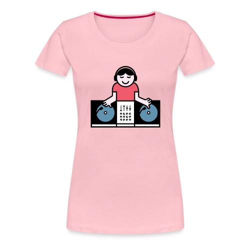 Vinyl DJ - Vrouwen Premium T-shirt