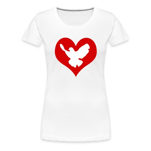 Peace & Love - Frauen Premium T-Shirt
