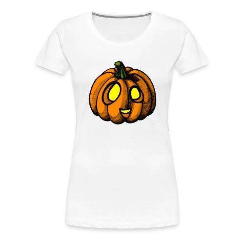 Pumpkin Halloween scribblesirii - Naisten premium t-paita