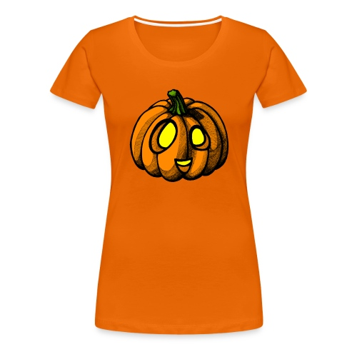 Pumpkin Halloween scribblesirii - Dame premium T-shirt