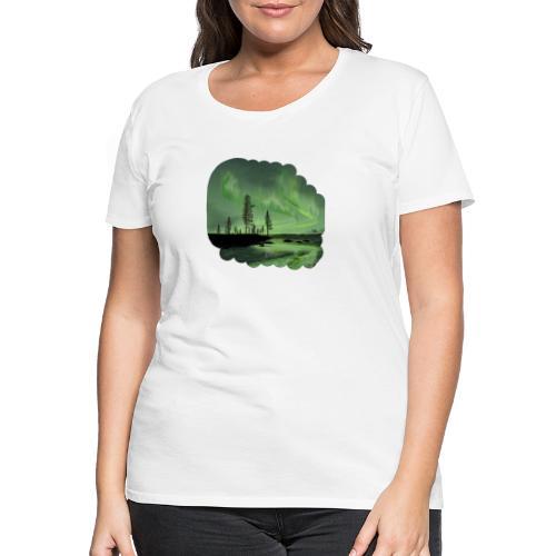 Noorderlicht reflectie - T-shirt Premium Femme