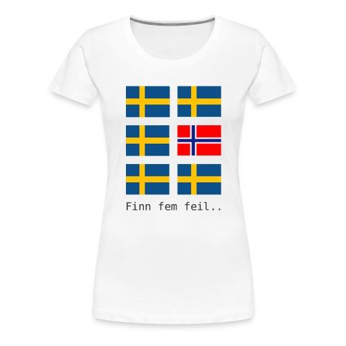 finn fem feil - Premium T-skjorte for kvinner